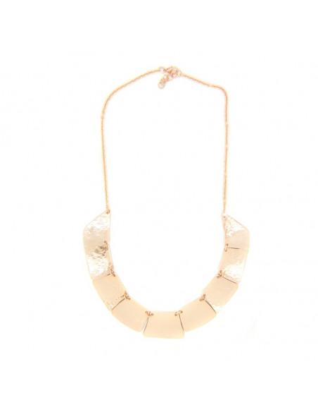 Collar necklace of bronze handmade rose gold LIFE 3