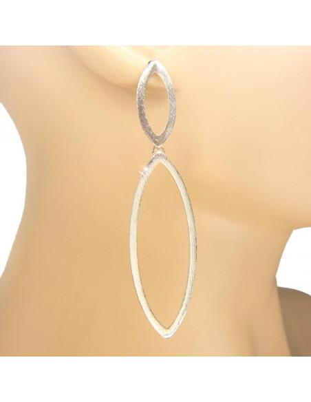 Lange Ohrringe handgemacht silber BLARE 2