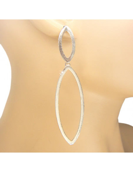 Long Earrings handmade silver BLARE 2