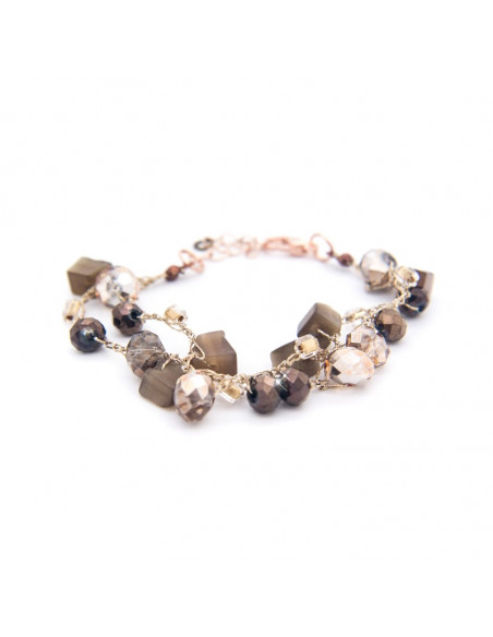 Bracelet with crystals and semiprecious stones TROY