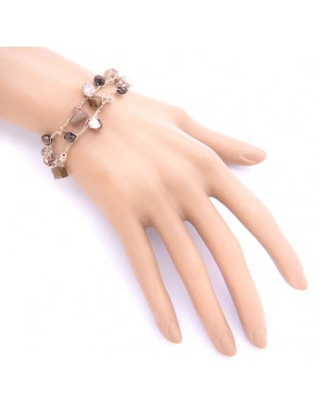 Armband mit Zirkonen & Halbedelsteinen rose gold TROY 2