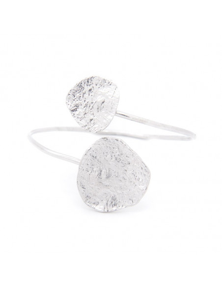 Bangle bracelet made from silver plated bronze RISE A20140962