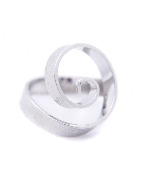 Ring in ancient greek style from hammered silver plated bronze SPIRAL R20140746