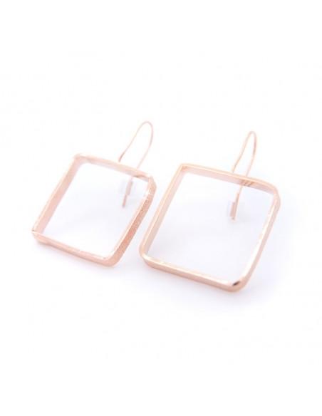 Ohrringe aus rosévergoldeter Bronze DO O20140946