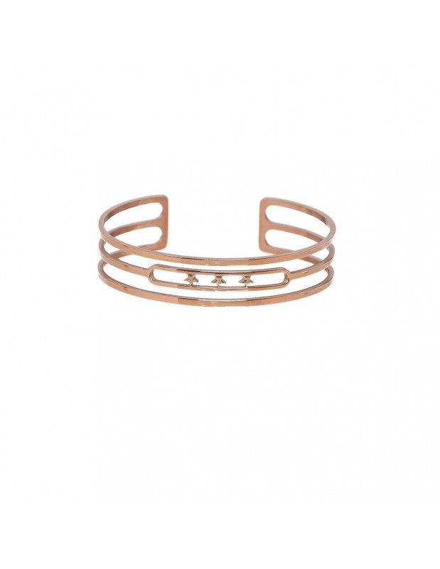 Armreif aus roségold vergoldetem Edelstahl STAR A20140989