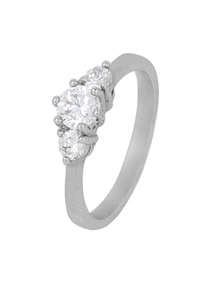 Solitaire ring of sterling silver with crystal RIO