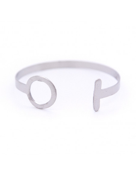 Bangle bracelet minimal from silver plated bronze SYDE A20140973