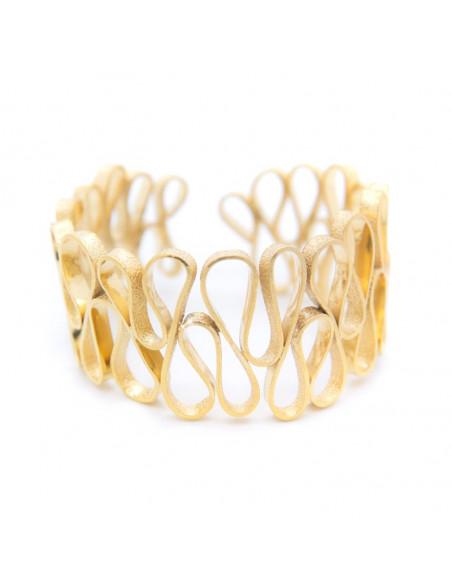 Greek designer bangle bracelet gold HEID 3