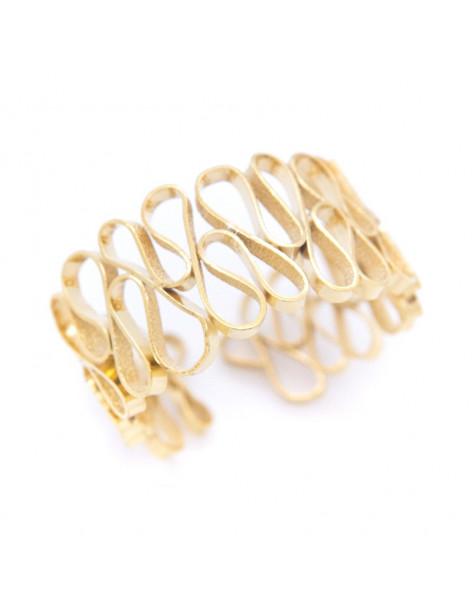 Greek designer bangle bracelet gold HEID