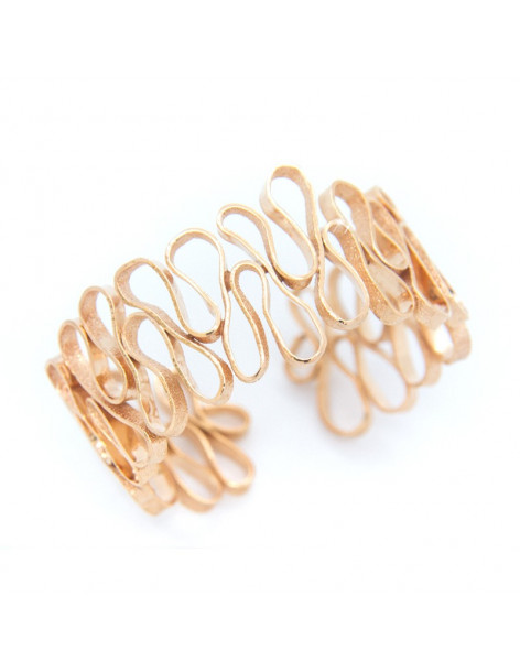 Bangle bracelet from rose gold plated bronze HEID A20140980