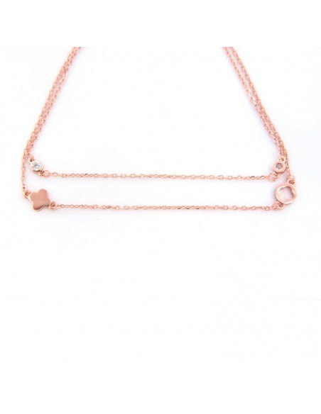 Bracelet of silver 925 rose gold plated TOEE