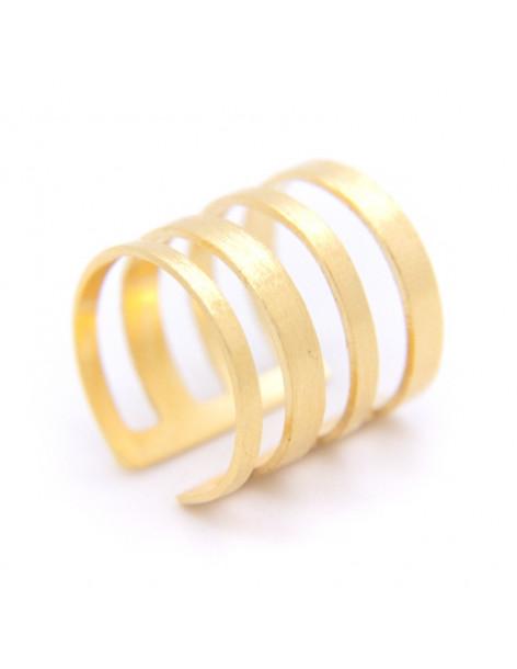 Δαχτυλίδι από μπρούτζο χειροποίητο χρυσό MIN