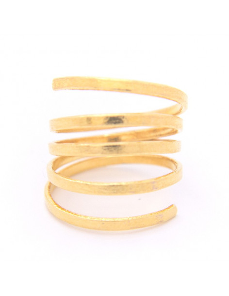Ring in minimal styl from gold plated bronze BAL R20140757