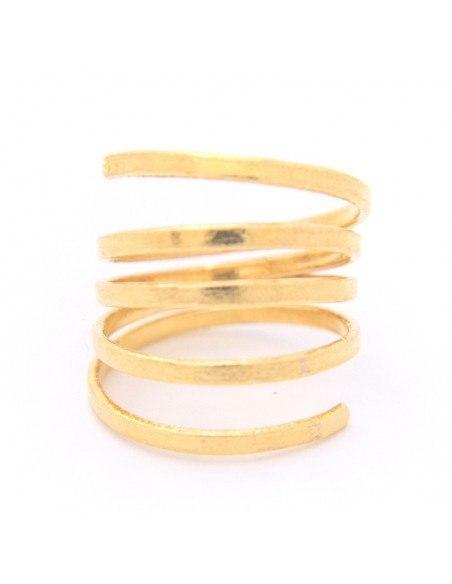 Δαχτυλίδι σε μίνιμαλ στύλ από επίχρυσο μπρούτζο BAL R20140757