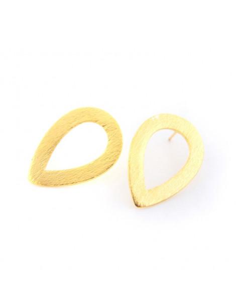 Earrings of bronze greek handmade gold TEARS