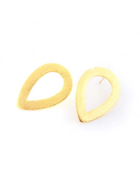 Ohrringe aus Βronze handgemacht gold OVAL
