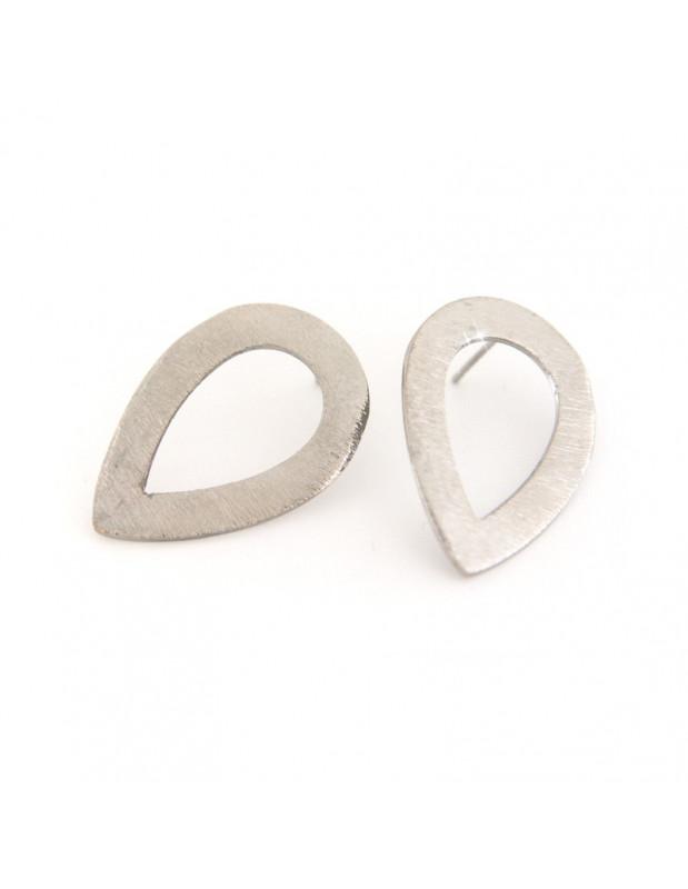 Earrings of bronze greek handmade silver TEARS