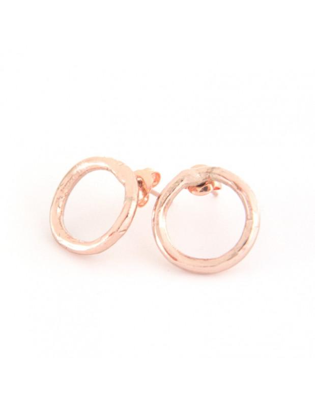 Σκουλαρίκια καρφωτά από μπρούντζο ροζ χρυσό TIRIL