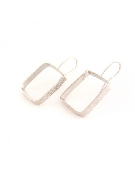 Earrings of bronze handmade silver DO