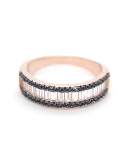 Ring aus rose gold Silber 925 mit Zirkonia Steinen OLI R20140795