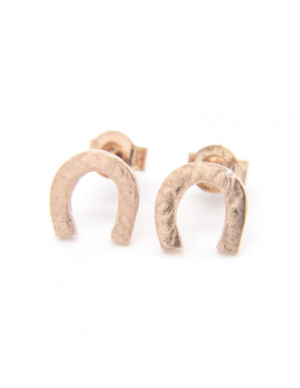 "Stud earrings ""CROWN"" from rose gold plated sterling silver O20141023"