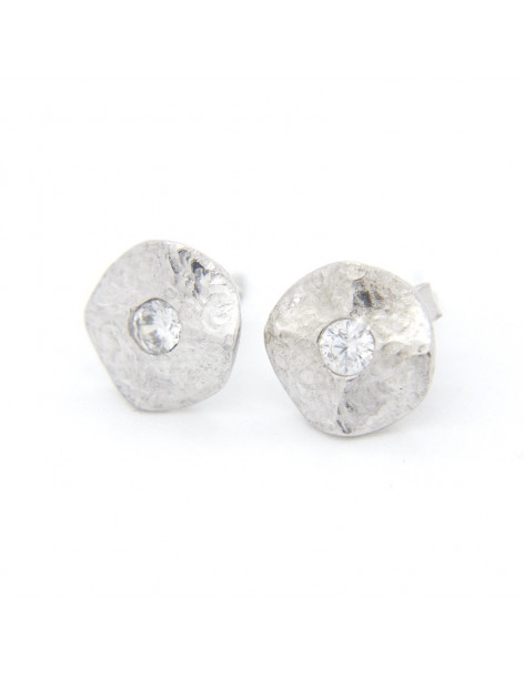 Stud earrings from handmade rose gold plated sterling silver O20141026