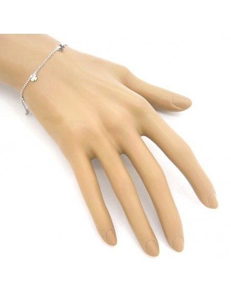 Silver charm bracelet LUCKY 2
