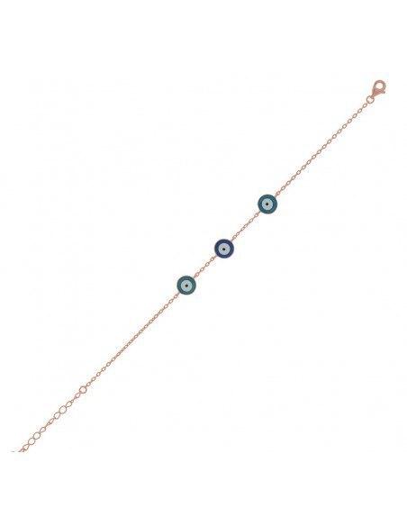Nazar Armband aus Silber 925 rosé gold vergoldet KINS