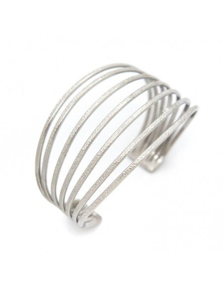 Bangle bracelet made from silver plated bronze FANCY A20141057