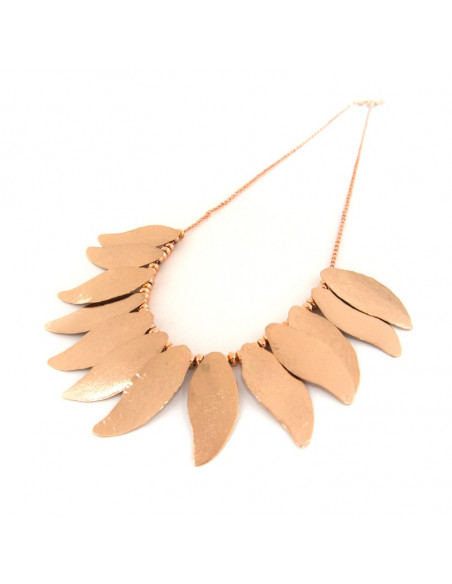 Collar Necklace of bronze rose gold ILOR 3