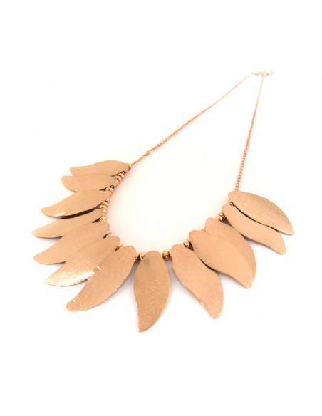 Kragen Halskette aus Bronze rosegold ILOR 3