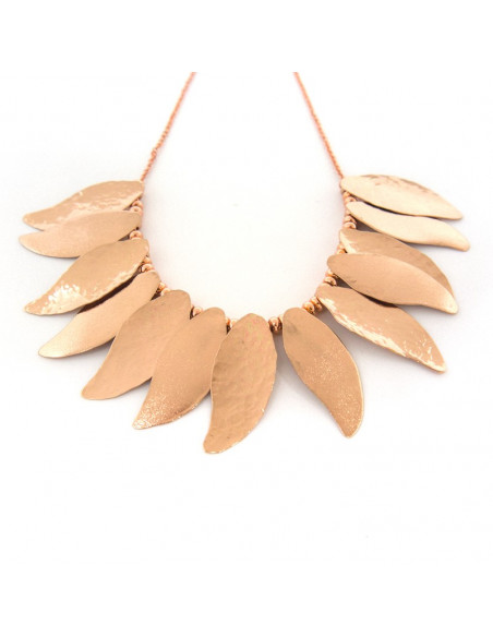 Collar Necklace of bronze rose gold ILOR