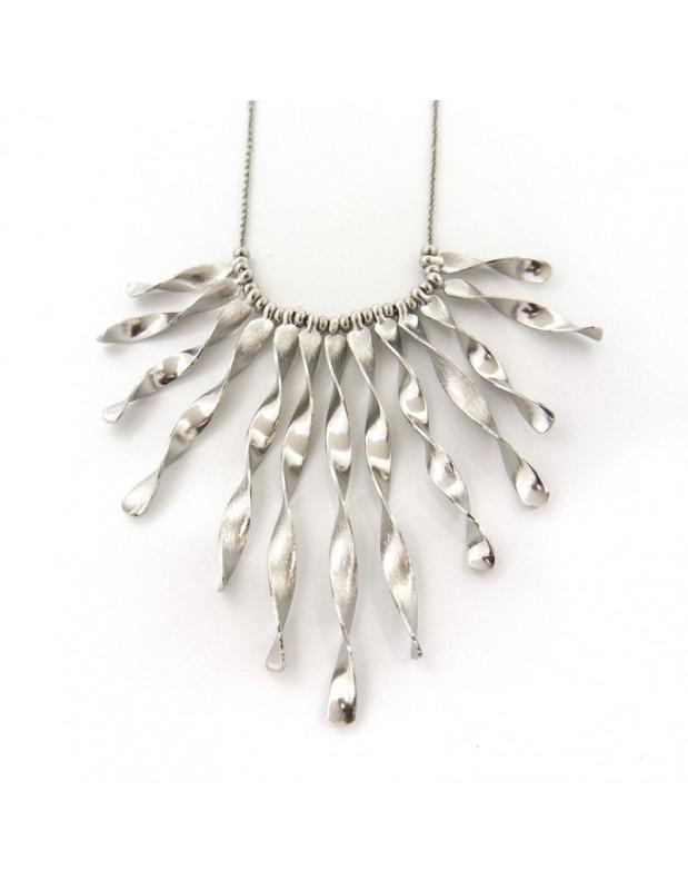 Kragen Halskette aus Bronze silber STEGO