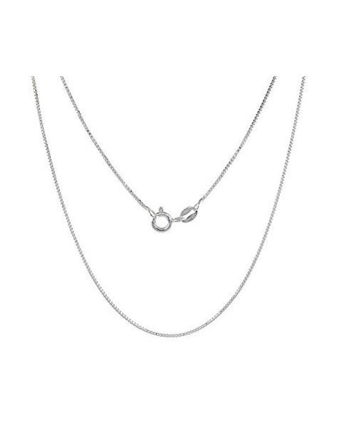 Silver chain 45cm platinum plated VENI