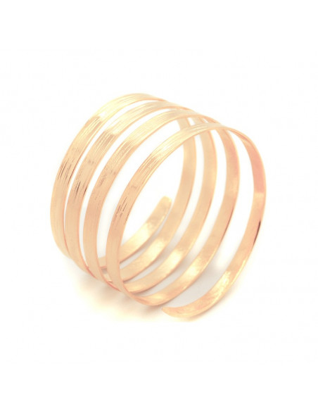 Bangle bracelet from rose gold plated bronze SERIO