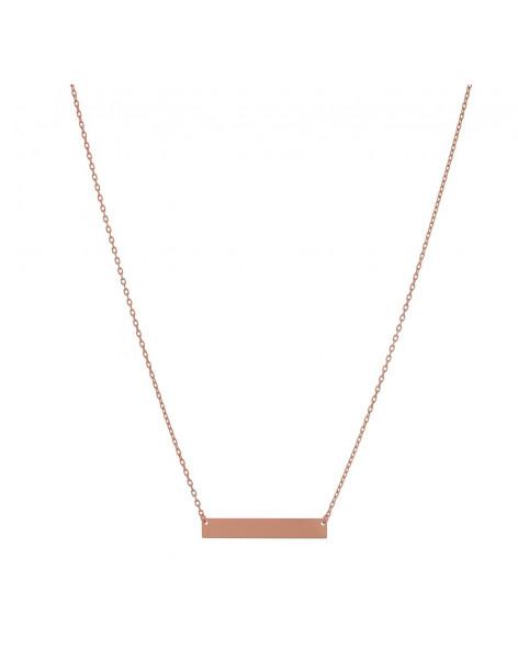 Κολιέ από 925 ασήμι minimal ροζ επίχρυσο APRIL