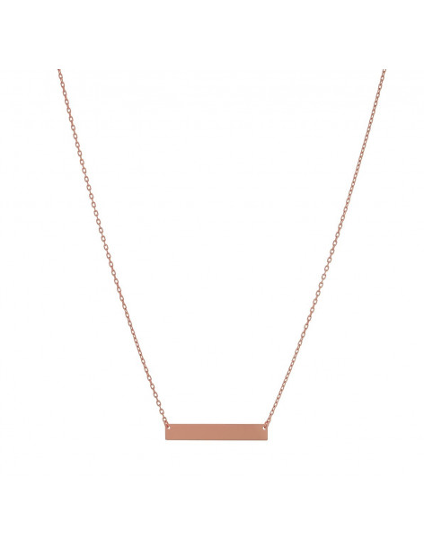Necklace of 925 silver minimal rose gold APRIL
