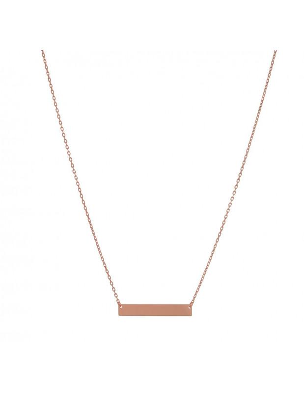 Halskette aus 925 Silber minimal rosé gold APRIL
