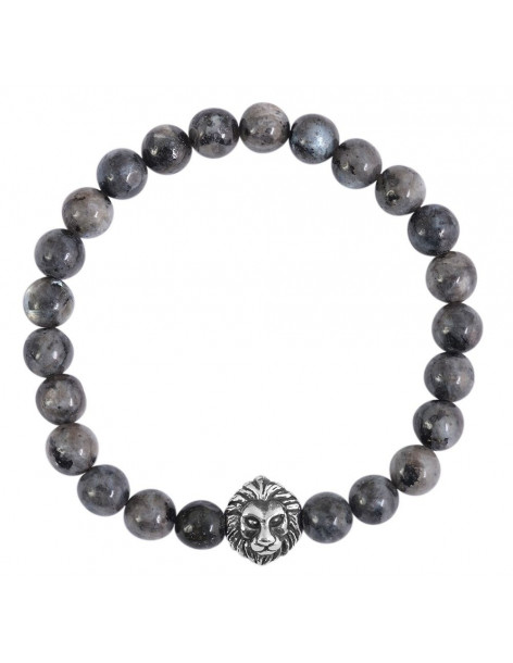 Bracelet of semiprecious stones LION