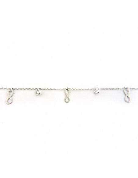 Silver charm bracelet INFINITY