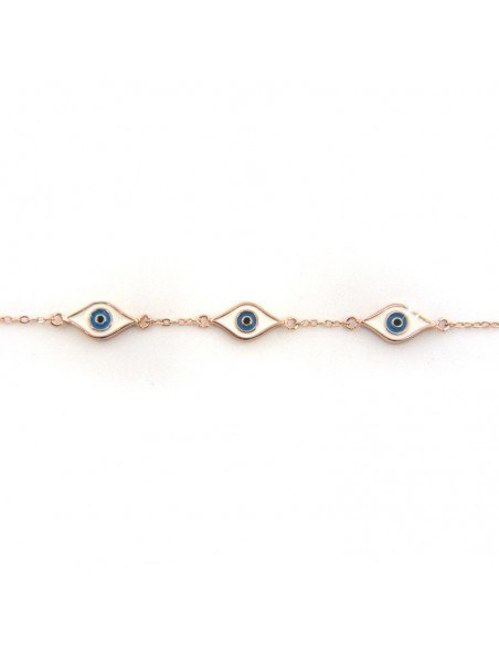 Nazar Armband aus Silber 925 rosé gold vergoldet WREN