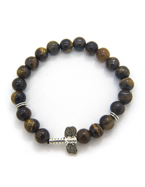 Perlen Armband für Herren Tiger Augen LIBELLE