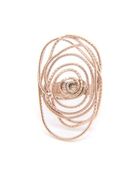 Ring aus Bronze handgemacht rosegold ANSE
