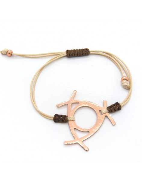 Bracelet with rose gold plated bronze element IRIT
