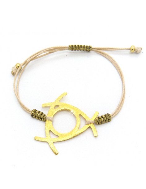 Bracelet with gold plated bronze element IRIT