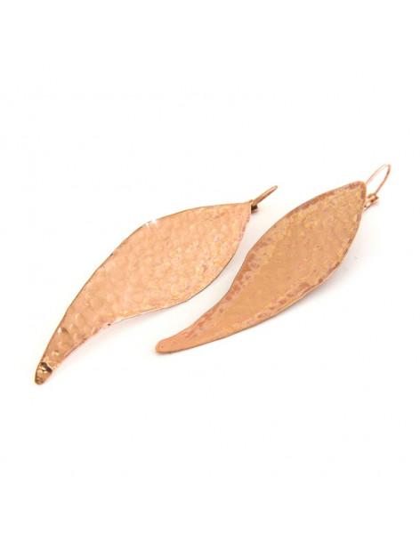 Lange Ohrringe aus Bronze rosegold KAL