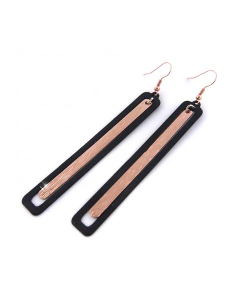 Long earrings from handmade acid-treated bronze LATE