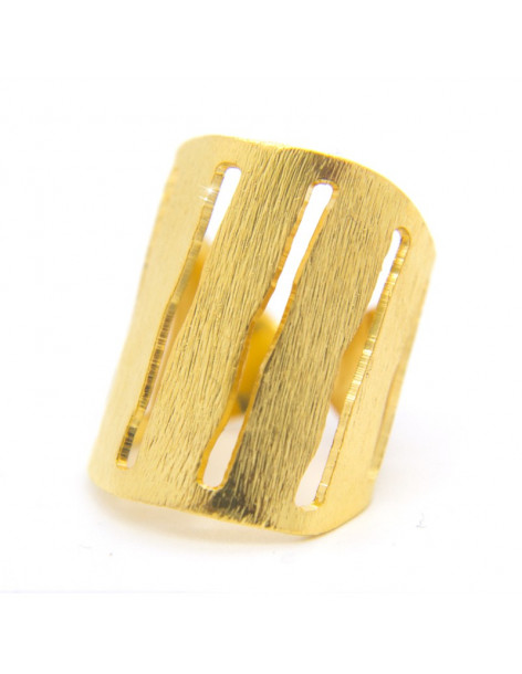 Ring from gold plated bronze RAIN