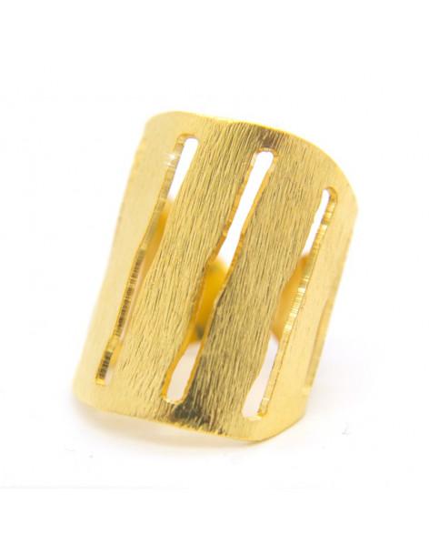 Ring of bronze handmade gold RAIN
