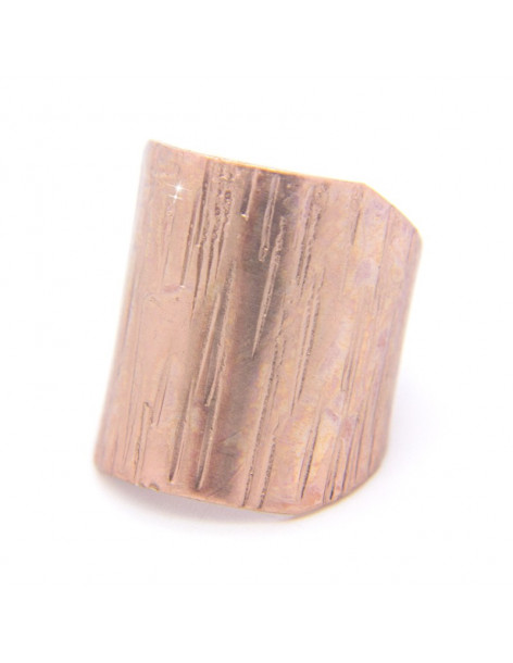 Δαχτυλίδι από ροζ επίχρυσο μπρούτζο ALMA